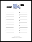 free printable baby shower game A to Z