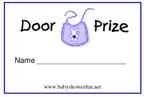 free printable door prize tickets baby shower fun