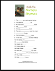 complete the nursery rhyme game